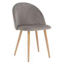 Étkező szék, világosszürke, FLUFFY