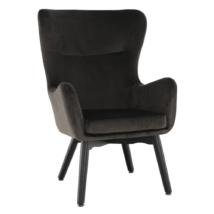 Dizájnos fotel,  szürkésbarna TAUPE Velvet anyag, TENAL