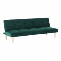 Kanapé széthúzhatós,  smaragd/tölgy, ALIDA