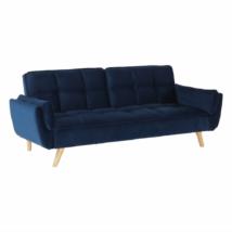 Széthúzhatós kanapé, királykék/tölgy, FILEMA