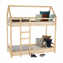 Elemetes ágy, természetes, 90x200, FREYA