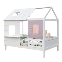 Montessori ágy, fehér, 90x200, BIBIANA