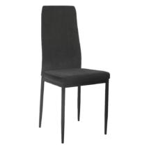Étkező szék, sotétszürke/fekete, ENRA
