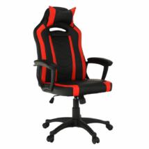 Irodai/gamer szék, fekete/piros, AGENA