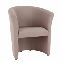Klub fotel,  pasztell rózsaszín anyag, CUBA