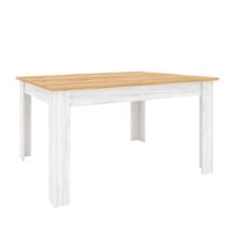 Étkezőasztal kinyitható,  tölgy craft arany/tölgy craft fehér, SUDBURY