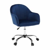 Irodai szék, Velvet anyag kék/króm, EROL