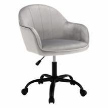 Irodai szék, Velvet anyag világosszürke/fekete, EROL