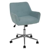 Irodai szék, világoskék/króm, JACKIE