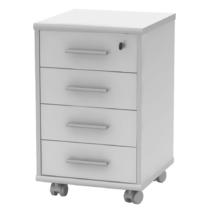 Zárható irodai konténer, fehér, JOHAN 2 NEW 12