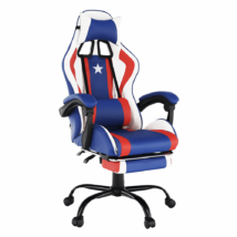 Irodai/gamer szék, kék/piros/fehér, CAPTAIN