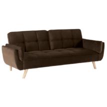 Széthúzhatós kanapé, barna/tölgy, FILEMA