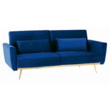 Széthúzhatós kanapé, királykékVelvet anyag/gold króm-arany, HORSTA
