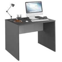 Számítógépasztal, grafit/fehér, RIOMA NEW TYP 12