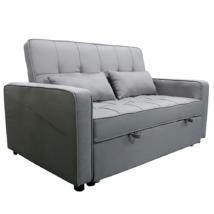 Kinyitható kanapé, szürke, FRENKA BIG BED NEW