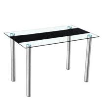 Étkezőasztal, acél +  üveg, ESTER