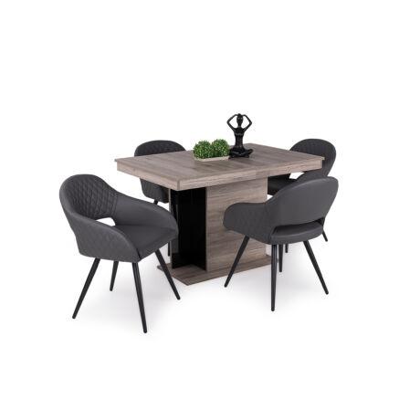 Cristal 4 személyes étkezőgarnitúra Debora asztallal