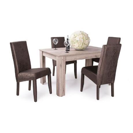 Berta exclusive szék sötétbarna, Félix asztal san remo
