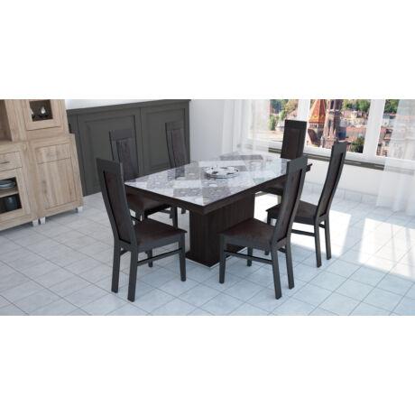 Dante 6 személyes étkezőgarnitúra Flóra plusz asztallal