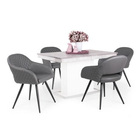 Cristal 4 személyes étkezőgarnitúra kis Flóra asztallal