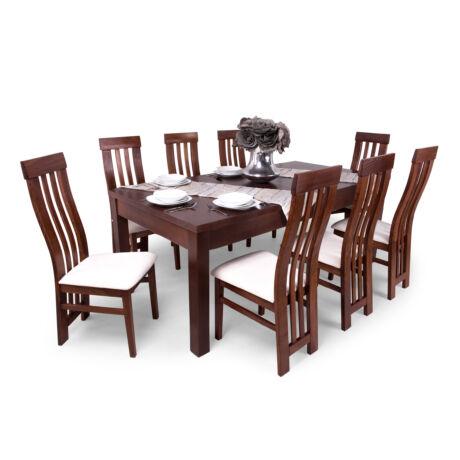 Lara 8 személyes étkezőgarnitúra, Leila asztallal