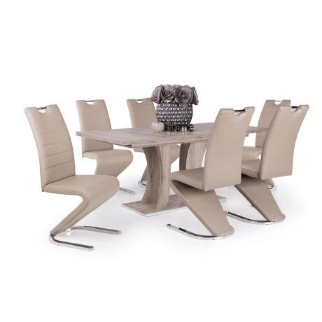 Lord 6 személyes étkezőgarnitúra Bella asztallal