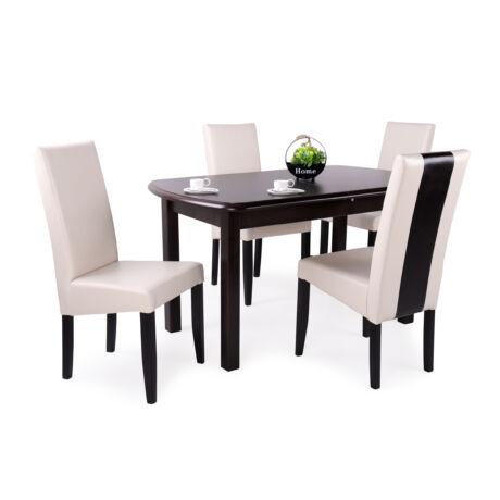 Berta mix 4 személyes étkezőgarnitúra Dante asztallal