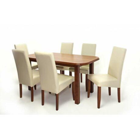 Berta 6 személyes étkezőgarnitúra, Piano asztallal
