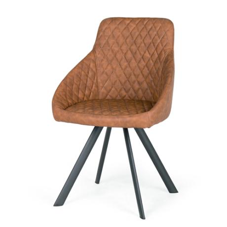 Domino szék barna