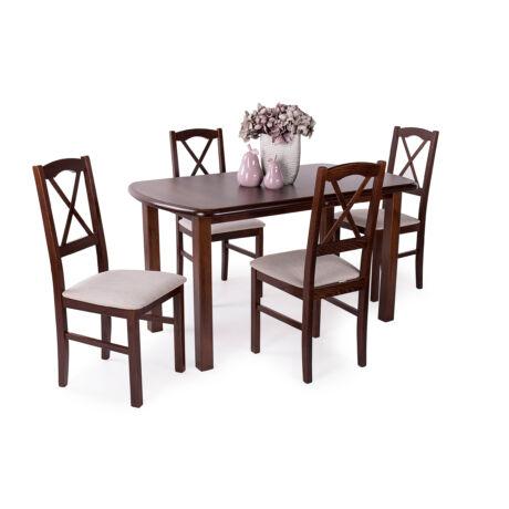 Niló 4 személyes étkezőgarnitúra Dante asztallal