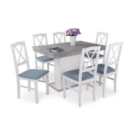Niló 6 személyes étkezőgarnitúra Flóra asztallal