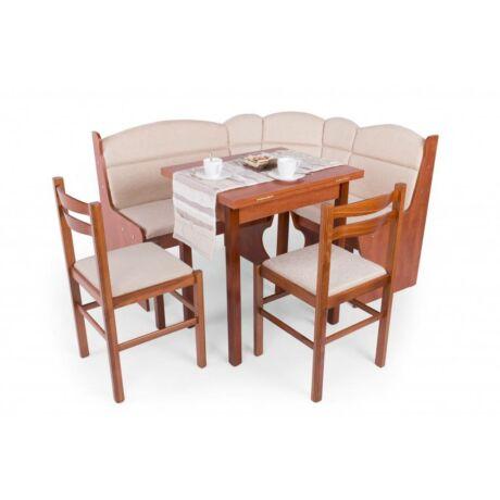 asztal 4 székkel sarok