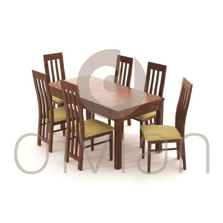Lara 6 személyes étkezőgarnitúra, Leila asztallal