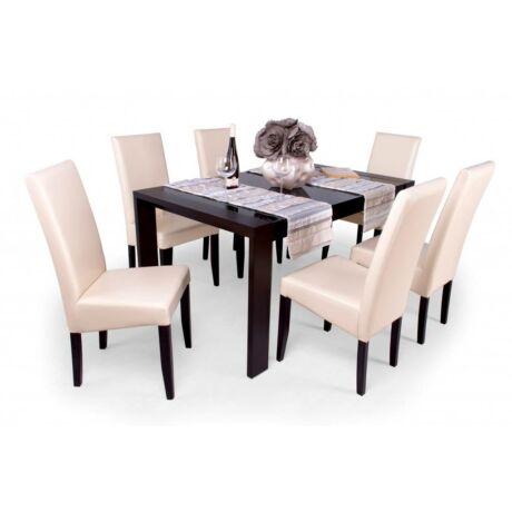 Berta 6 személyes étkezőgarnitúra, Piero üveglapos asztallal