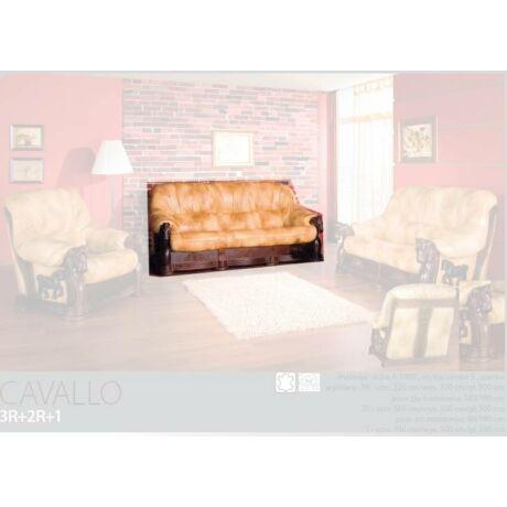 Cavallo 3-as valódi bőr kanapé