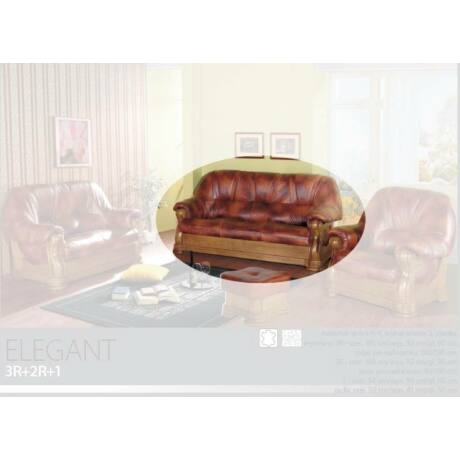 Elegant 3-as valódi bőr kanapé