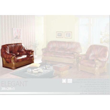 Elegant 2-es valódi bőr kanapé