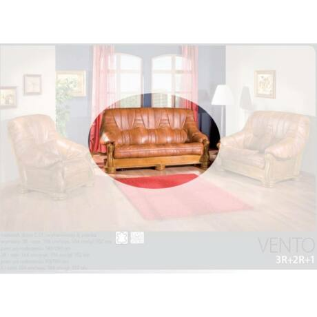 Vento 3-as valódi bőr kanapé