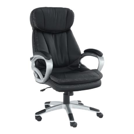 Irodai szék, fekete műbőr, ROTAR