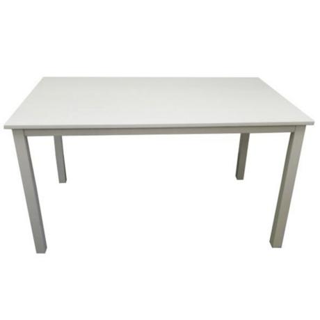 Étkezőasztal, fehér, 110 cm, ASTRO NEW