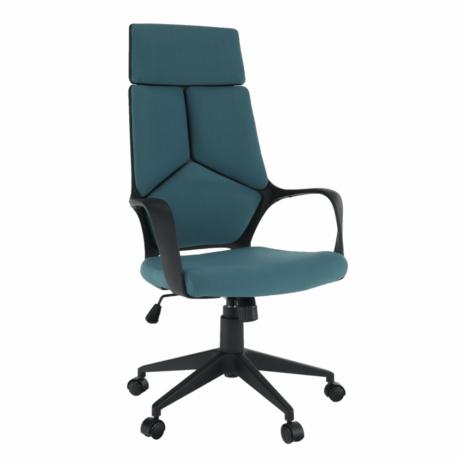 Irodai szék, kék/fekete, BAKARI