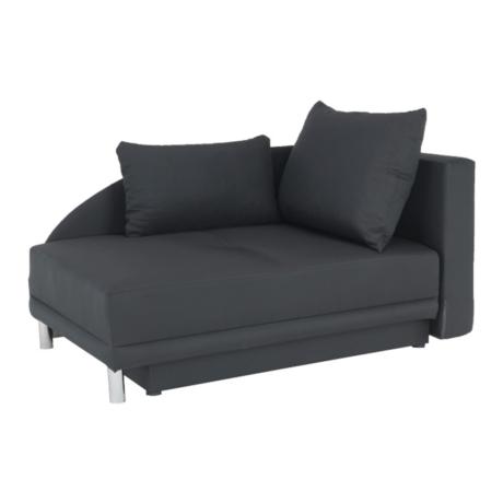 Kinyitható kanapé, szürke-fekete szövet, jobbos, LAUREL