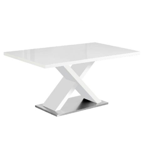Étkezőasztal, fehér magasfényű HG, FARNEL