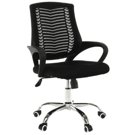 Irodai szék, fekete/króm, IMELA TYP 2