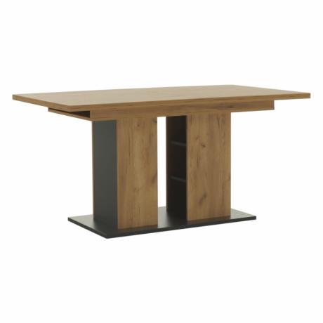 Étkezőasztal, tölgy craft arany/grafit szürke, FIDEL