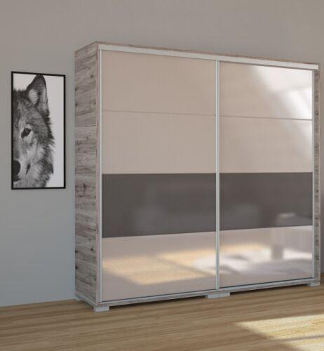 Magasfényű festett üveglapos Bond tolóajtós gardrób 200 cm