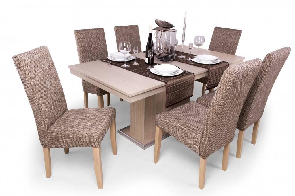 Berta 6 személyes étkezőgarnitúra, Flóra asztallal